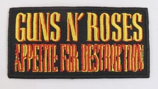Guns N'Roses - 'Appetite For Destruction' Sew-on Embroidered Patch