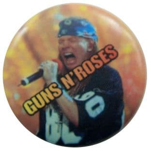 Guns N'Roses - 'Axl Blue Headband' Button Badge