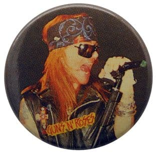 Guns N'Roses - 'Axl Singing' Button Badge