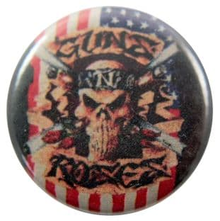 Guns N'Roses - 'Flag Skull' Button Badge