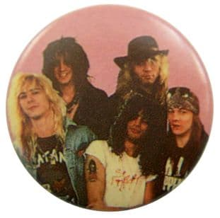 Guns N'Roses - 'Group Pink' Button Badge