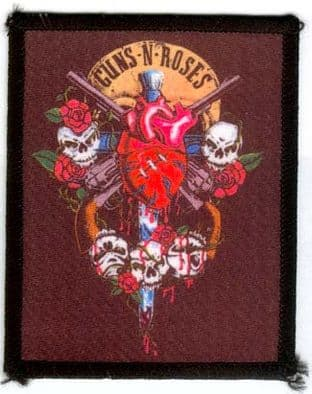 Guns N'Roses - 'Heart' Printed Patch