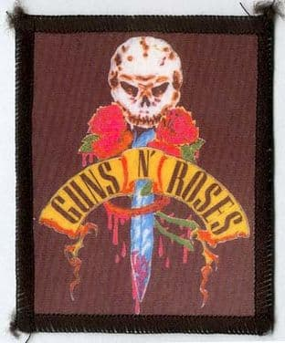 Guns N'Roses - 'Skull Dagger' Printed Patch