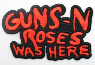 Guns N'Roses - 'Was Here' Embroidered Patch