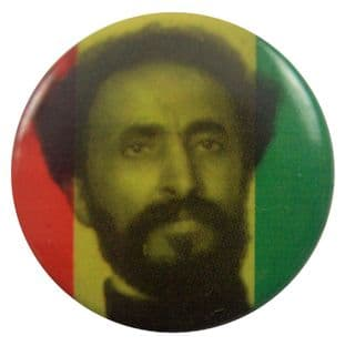 Haile Selassie - 'Photo' Button Badge
