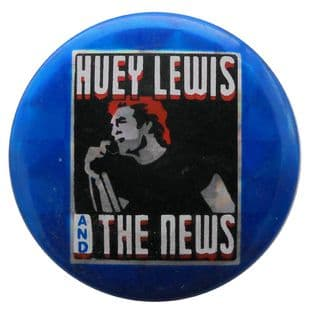 Huey Lewis and the News - 'Huey' Prismatic Button Badge