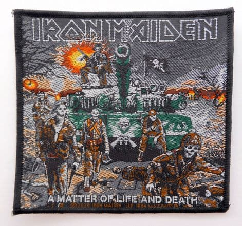 Iron Maiden - 'A Matter of Life and Death' Woven Patch