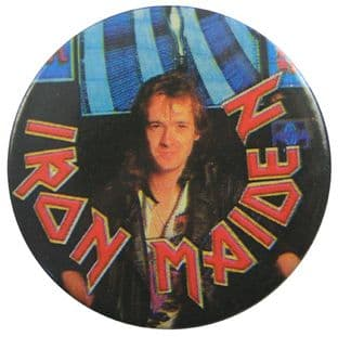 Iron Maiden - 'Adrian Smith' Vintage 32mm Badge