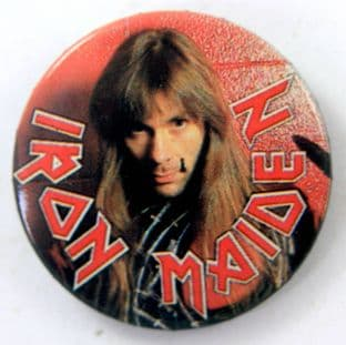 Iron Maiden - 'Bruce Dickinson' Vintage 32mm Badge