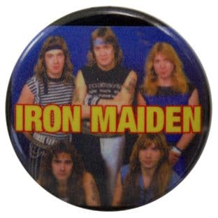 Iron Maiden - 'Group (young)' Button Badge