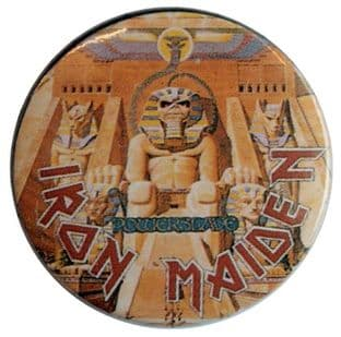Iron Maiden - 'Powerslave' Vintage 32mm Badge