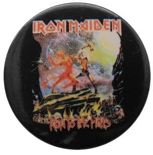 Iron Maiden - 'Run to the Hills' Button Badge