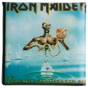 Iron Maiden - 'Seventh Son #1' Vintage Square Badge