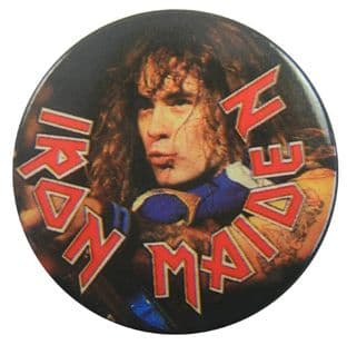 Iron Maiden - 'Steve Harris' Vintage 32mm Badge