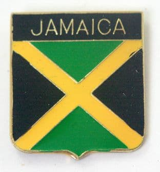 Jamaica Flag - Enamel Lapel Badge