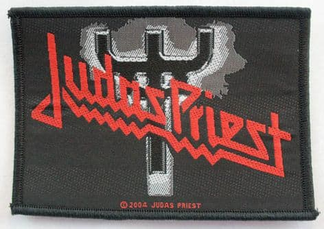 Judas Priest - 'Fork Logo' Woven Patch