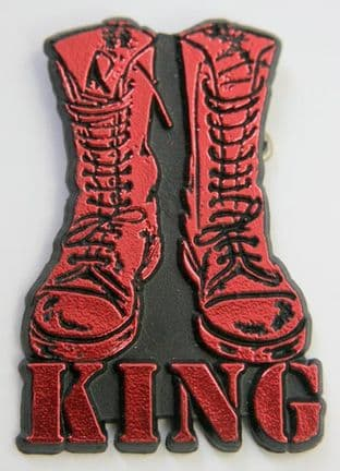 King - 'Boots Red' Plastic Badge
