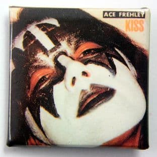 Kiss - 'Ace Frehley' Square Badge
