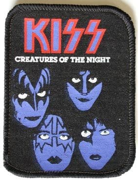 Kiss - 'Creatures of the Night' Printed Patch