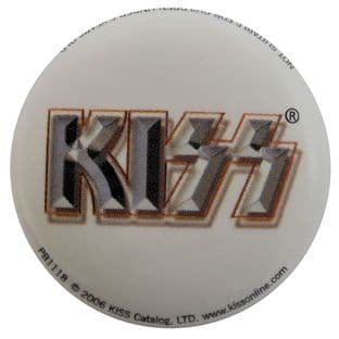Kiss - 'Logo White' Button Badge