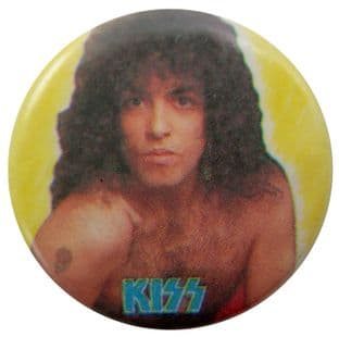 Kiss - 'Paul Yellow' Button Badge