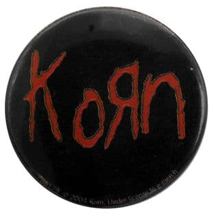 Korn - 'Red Logo 1' Button Badge