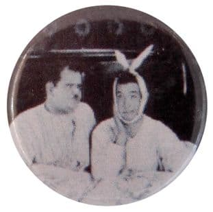 Laurel & Hardy - 'Toothache' Button Badge