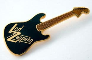 Led Zeppelin - Guitar Shaped Enamel Badge