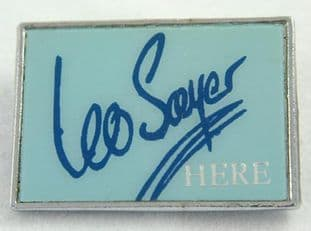 Leo Sayer - 'Here' Lapel Badge