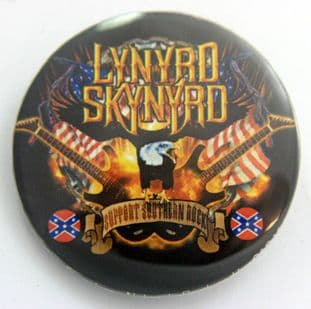 Lynyrd Skynyrd - 'Guitars & Eagle' Large Button Badge