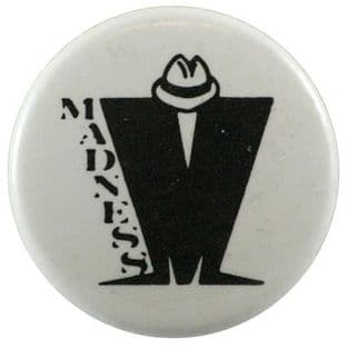 Madness - 'M Logo' Button Badge