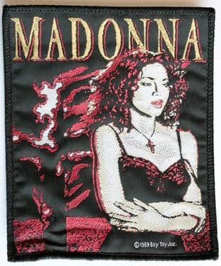 Madonna - 'Burning Cross' Woven Patch