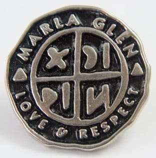 Marla Glen - 'Love and Respect' Enamelled Metal Badge