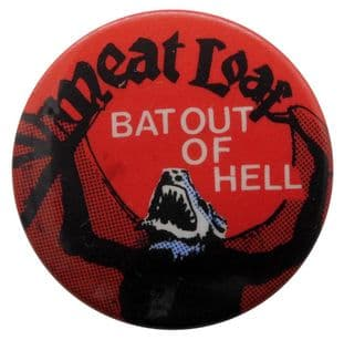 Meat Loaf - 'Bat Out of Hell Red' Button Badge