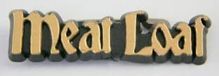 Meat Loaf - 'Logo Gold' Plastic Badge