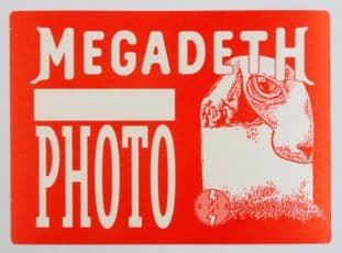 Megadeth '1999 Risk Tour Photo' Red OTTO Backstage Pass