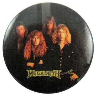 Megadeth - 'Group Dark' Button Badge