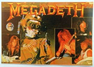 Megadeth - 'Group Pictures / So Far.... ' Postcard