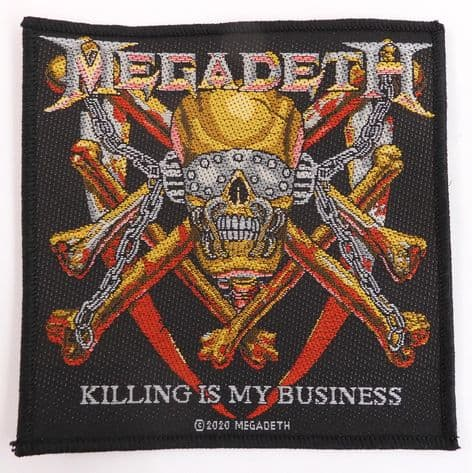 Megadeth - 'Killing is My Business' Woven Patch
