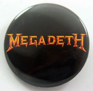 Megadeth - 'Logo' Large Button Badge