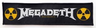 Megadeth - 'Logo' Woven Strip Patch