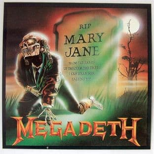 Megadeth - 'Mary Jane' Square Sticker