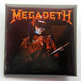 Megadeth - 'So Far, So Good' Square Badge