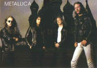 Metallica - 'Group in Moscow' Postcard