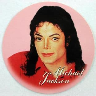 Michael Jackson - 'Red Shirt' Round Sticker