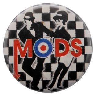 Mods - 'Rude Boy & Girl' Button Badge
