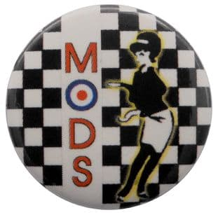 Mods - 'Rude Girl' Button Badge