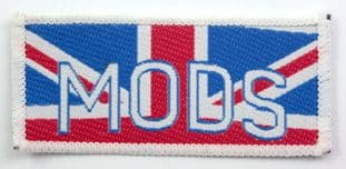 Mods - 'Union Jack' Rectangular Woven Patch