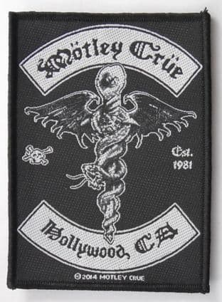 Motley Crue - 'Hollywood CA' Woven Patch