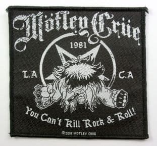 Motley Crue - 'You Can't Kill Rock & Roll' Woven Patch